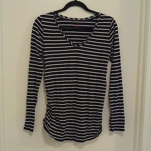 Isabel Maternity long sleeved striped t-shirt